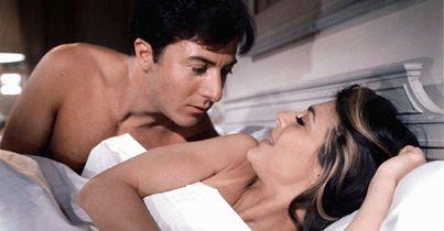 "Dustin Hoffman e Anne BAncroft ne ""Il laureato"" (Olycom)"