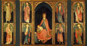 Paroto, Madonna col Bambino un donatore e Santi (Polittico di Cemmo) (1447). tempera su tavola. Brescia, Fondazione CAB, Istituto di Cultura G. Folonari
