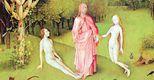 Bosch. �La creazione� (particolare) dal trittico �il giardino delle delizie�, 1480-1490, Madrid, Museo del Prado
