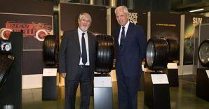 Il ministro del Lavoro, Giuliano Poletti e il presidente e ad di Pirelli, Marco Tronchetti Provera
