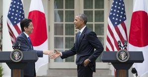 Shinzo Abe insieme a Barack Obama  (Afp) (AFP)
