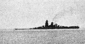 La nave giapponese Musashi che affond� nel Mar Sibuyan nelle Filippine, la foto risale all'ottobre 1944 (Afp) (AFP)