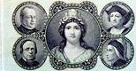 Banconota da 1 lira della Banca Nazionale nel Regno d'Italia (1869, Museo della Moneta)