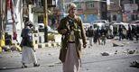 Ribelli sciiti impegnati nei combattimenti nei dintorni del palazzo presidenziale (AP)