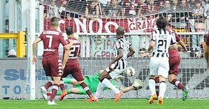 Torino-Juventus 2-1. Il gol partita di Quagliarella (Ansa)