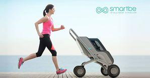 Nella foto SmartBe, il passeggino intelligente che si muove da solo