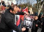 Proteste a Istambul contro la Russia