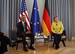 Obama ricevuto dalla Merkel al castello di Herrenhausen