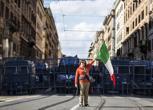 Lega e Casapound in piazza, Roma blindata