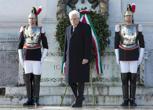 71° anniversario della Liberazione, Mattarella e Renzi all'Altare della Patria