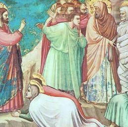 Giotto, «La resurrezione di Lazzaro», Padova (cappella degli Scrovegni, part.)