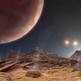 Su HD 188753 capire quando � l'alba e quando il tramonto � un affare serio. Il pianeta infatti sta in un sistema di 3 stelle e ruota attorno alla principale, ma ovviamente le vede tutte e 3
