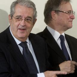 Fabrizio Saccomanni (s) e Ignazio Visco (Ansa)