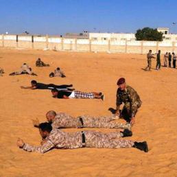 Addestramento forze armate e di sicurezza libiche da parte dei militari italiani (Ansa)