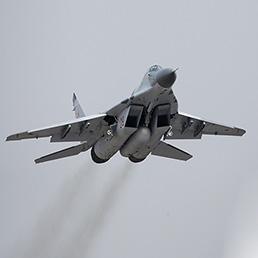 Nella foto un Mikoyan Mig29 (AFP Photo)