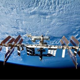 La Stazione Spaziale Internazionale, Iss, come � oggi in orbita a circa 400 chilometri di altezza