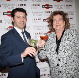 Diana Bracco e Giorgio Molinari, country manager Martini (Ansa)