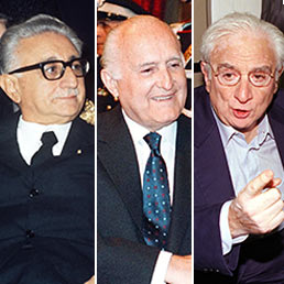Giovanni Leone, Oscar Luigi Scalfaro, Francesco Cossiga