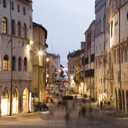 Perugia, il centro storico.