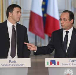Francois Hollande e Matteo Renzi (Ap)