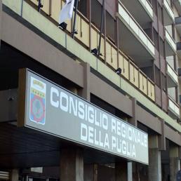 L'esterno della sede della Regione Puglia. (Fotogramma)