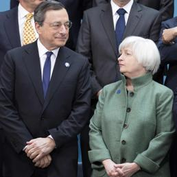 Mario Draghi e Janet Yellen (Reuters)