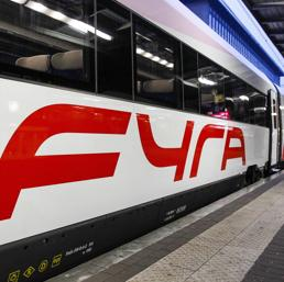 I treni ad alta velocità Fyra V250 prodotti da Ansaldo-Breda (Ansa)