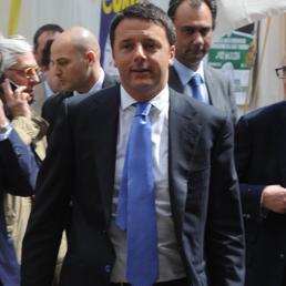 Nella foto il premier Matteo Renzi nel corso della sua visita di ieri a Milano (ItalyPhotoPress)