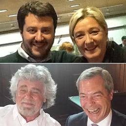 """Le brave persone che in Italia vogliono la """"Italexit"""" Salvini-le-pen-grillo-farage--258x258"""
