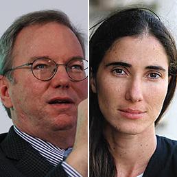 Eric Schmidt e Yoani Sanchez