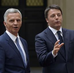 Didier Burkhalter ha incontrato a Palazzo Chigi il premier Matteo Renzi