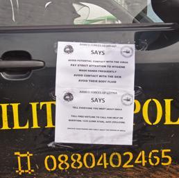 La pattuglia della polizia liberiana per le vie di Monrovia (Ap)
