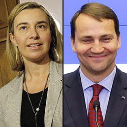 Federica Mogherini e Radoslaw Sikorski