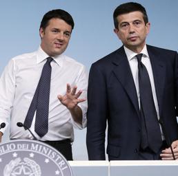 Matteo Renzi e Maurizio Lupi (Ansa)