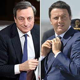 Mario Draghi e Matteo Renzi