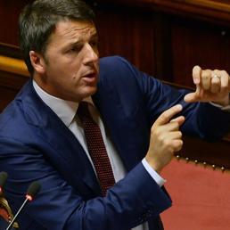 Il Presidente del Consiglio Matteo Renzi alla Camera  (Ansa) (13709)
