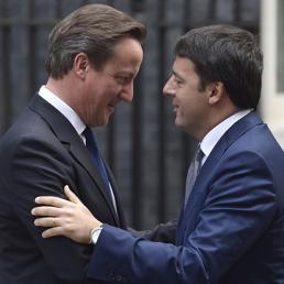 David Cameron e Matteo Renzi (Reuters) (REUTERS)