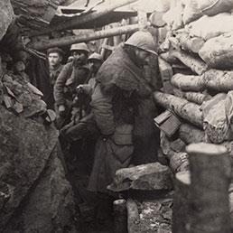Soldati in trincea durante la Prima Guerra Mondiale (Corbis)
