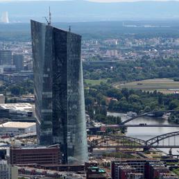 La nuova sede della Bce a Francoforte (Afp)