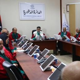 La Corte Suprema in seduta a Tripoli (Epa)