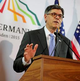 il segretario Usa del Tesoro, Jack Lew (EPA)