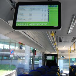 Torino sadem presenta gli autobus della nuova linea citt - Collegamento torino porta nuova aeroporto caselle ...