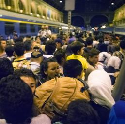 Stazione di Budapest nel caos (Ap) (AP)