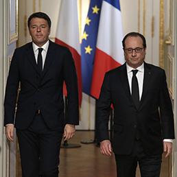 Matteo Renzi e Francois Hollande (Reuters)