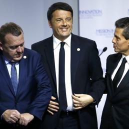 Da sinistra, Lars Lokke Rasmussen, Matteo Renzi ed Enrique Pena Nieto (Reuters) (REUTERS)