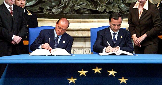 Risultati immagini per Berlusconi e Frattini