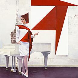 Paulina Olowska, «Constructivish driedulk», ad Art Basel dal 19 al 22 giugno da Metro Pictures di New York. L'artista polacca, classe 1976, nel 2013 ha avuto la sua prima personale in Svizzera alla Kunsthalle Basel