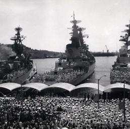 Navi da guerra russe nel porto di l' Avana (Ipp)