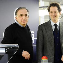 Sergio Marchionne e John Elkann (Ansa)