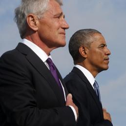 Chuck Hagel (s), Barack Obama. (Ap)